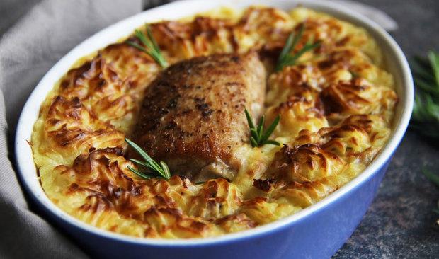 Panenka zapečená v ochucené bramborové kaši 2 Foto: