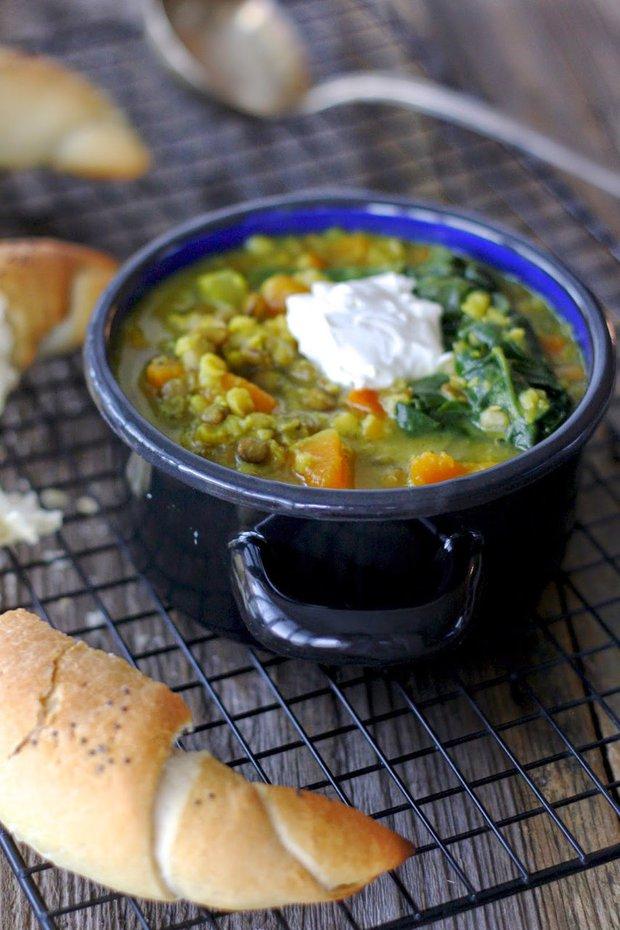 Polévka z čočky se špenátem a dýní 2 Foto: