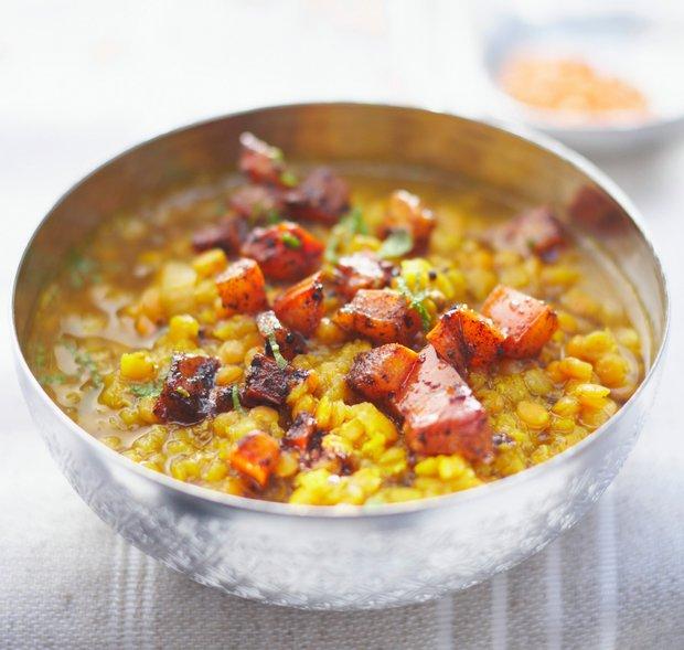 Indická žlutá čočka s mrkví 2 Foto: