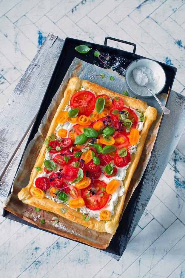 Rajčatový koláč s kozím sýrem Foto: