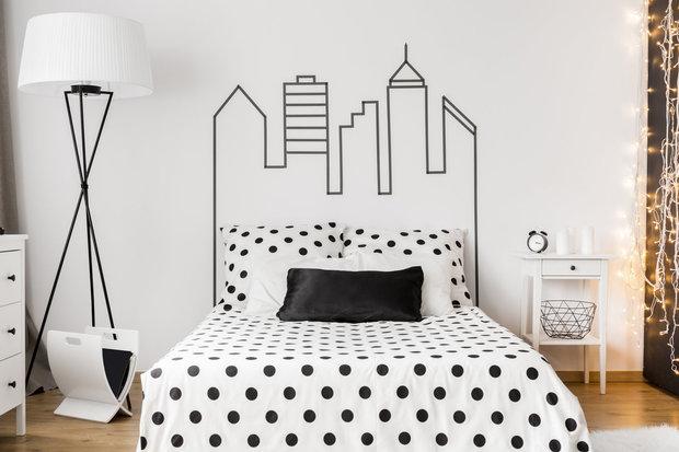 V moderní ložnici puntíky vyniknou... Foto: