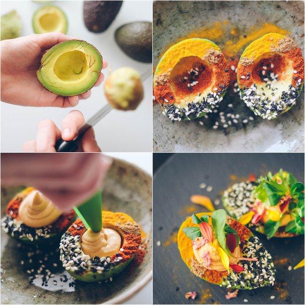 Lodičky z avokáda plněné hummusem 2 Foto: