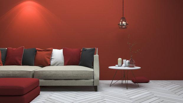 Červená v interiéru vám zrychlí tep. Foto: