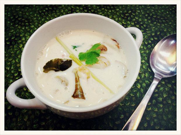Polévka Tom kha kai s kuřetem Foto: Klára Michalová