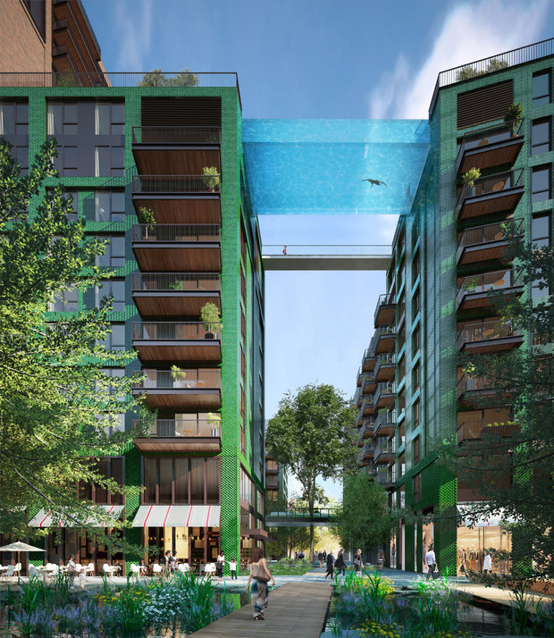 Dno bazénu bude pouze 20 centimetrů silné a průhledné Foto: