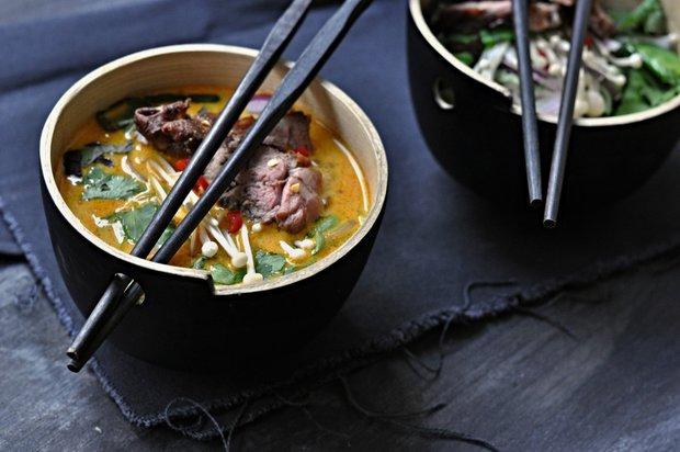 Asijská kachní polévka Foto: