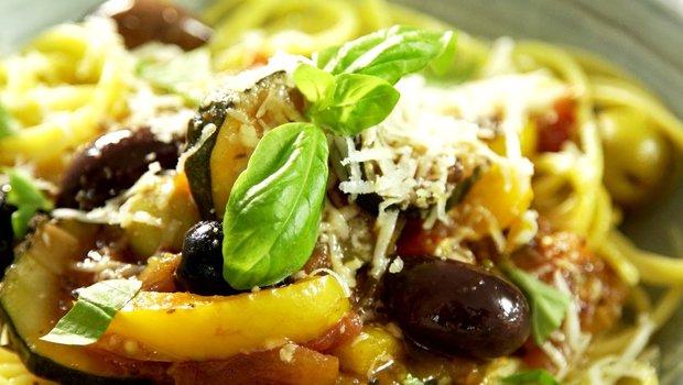 Kukuřičné špagety s jižní zeleninou 2 Foto: