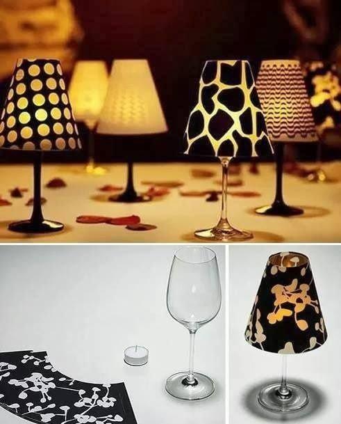 Malé lampičky si můžete vyrobit i ze skleniček na víno. Foto: