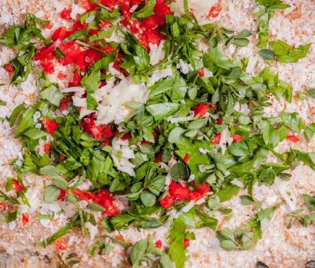 Bílé rizoto s křupavou chilli strouhankou Foto: Zelenina moje láska