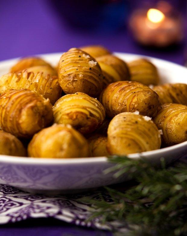 Zapečené brambory Hasselback Foto: