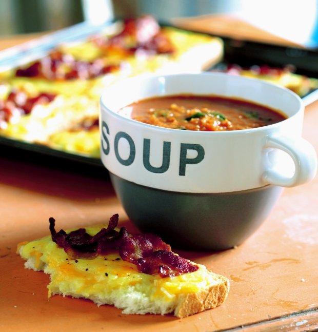 Rajčatovo-česneková polévka Foto: