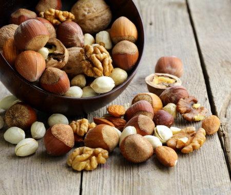 Ořechy a semena Foto: