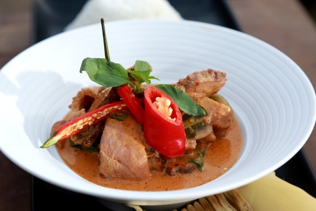 Červené curry s kachnou Foto: