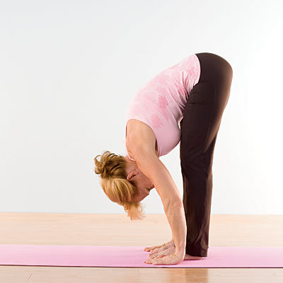 Standing Forward Bend Yoga(1) Foto: