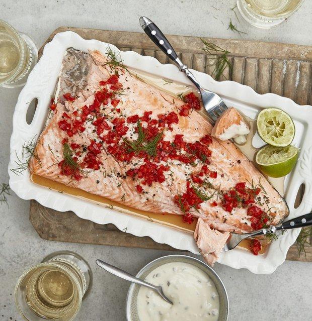 Slavnostní losos v papilotě  Foto: