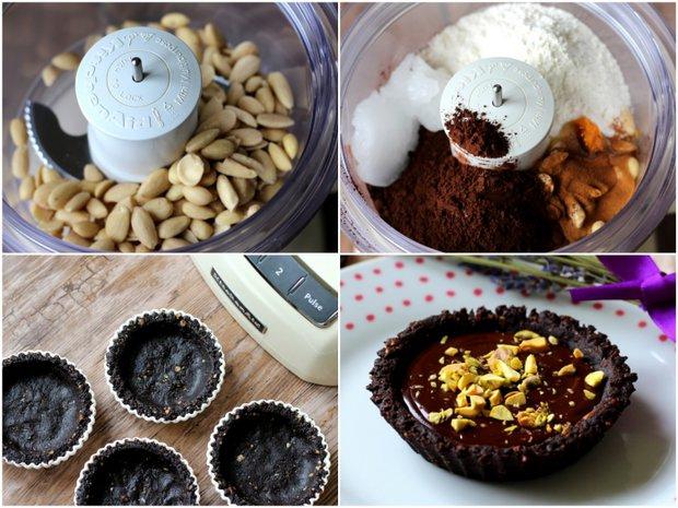 Tartaletky s čokoládou a pistáciemi  Foto: