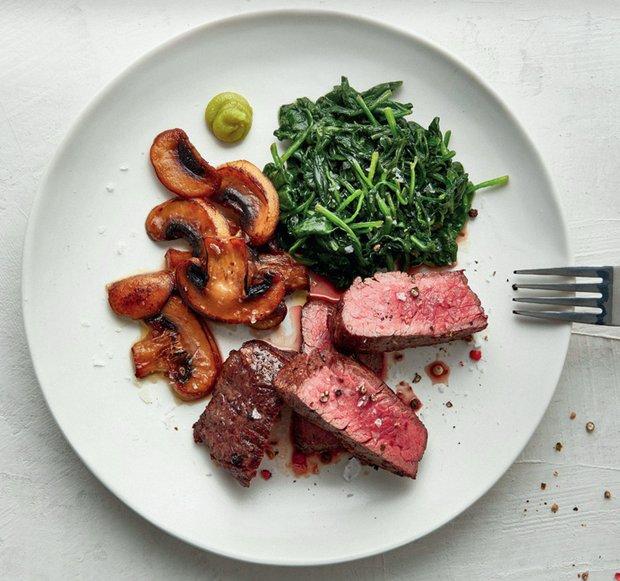 Steak s wasabi špenátem  Foto: