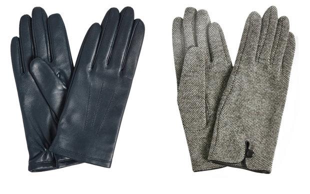 Kožené rukavice, cena 699 Kč, vlněné rukavice 549 Kč, oboje Marks & Spencer Foto: