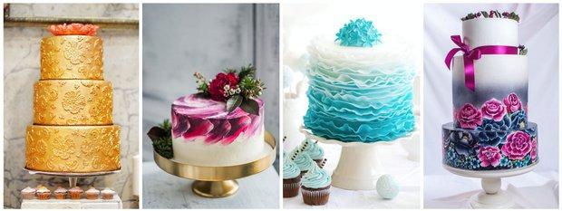 Svatební dorty ve stylu jemných krajek  Foto: