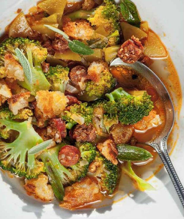 Brokolicové ragú s uzenou klobásou Foto: moje láska
