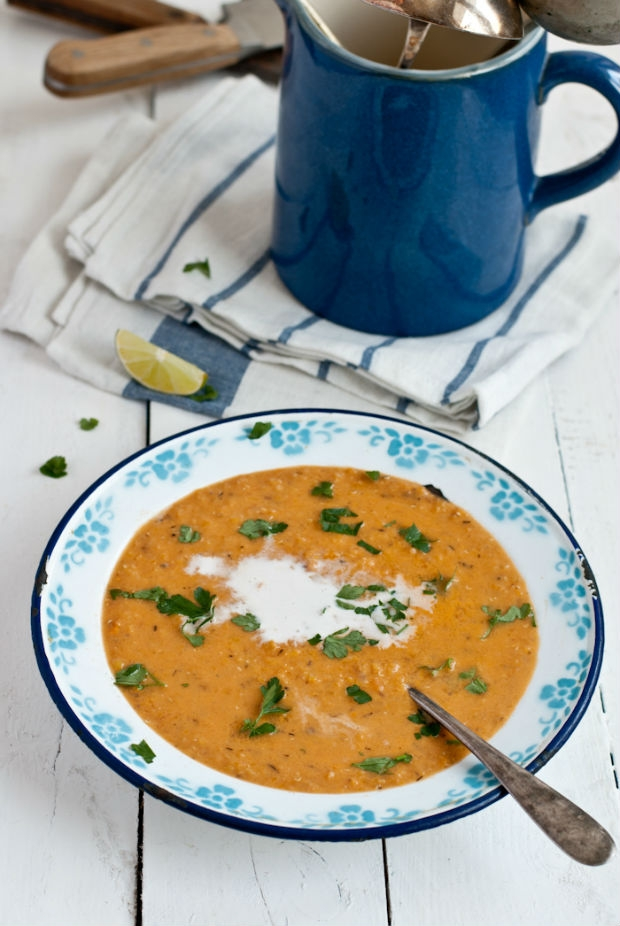 Polévka z červené čočky, mrkve a kokosového mléka  Foto: Sweet pixel blog