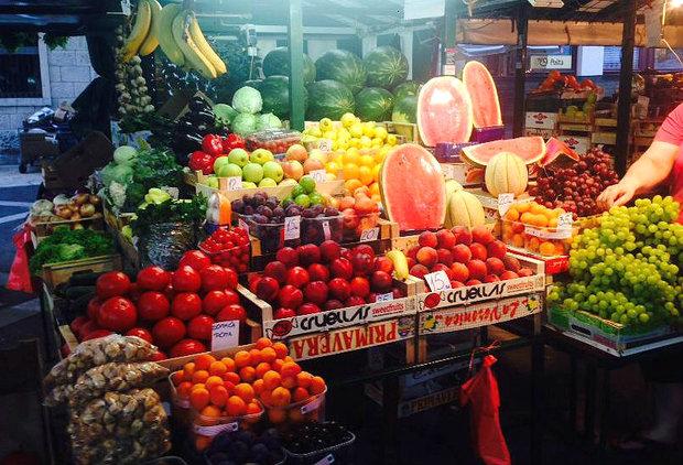 Zeleninový trh v Omiši Foto: Klára Michalová