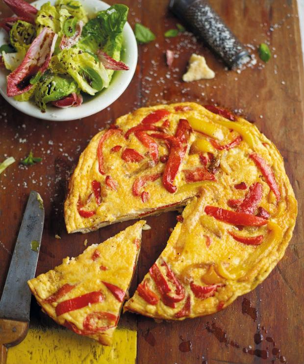 Papriková omeleta Foto: Dva italští gurmáni jedí po italsku