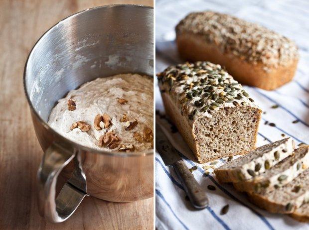 Celozrnný chléb bez hnětení 2 Foto: