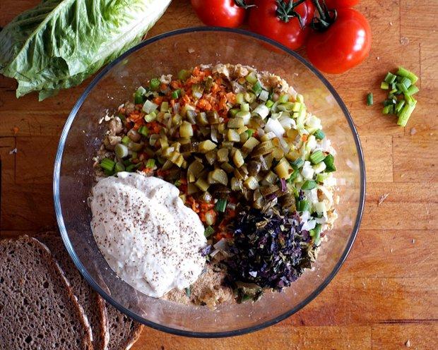 Cizrnový vegan salát Foto: