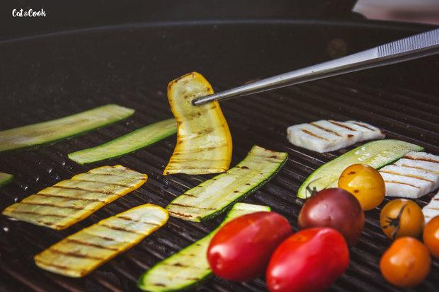 Letní miska s čočkou, grilovanou zeleninou a halloumi 2 Foto: