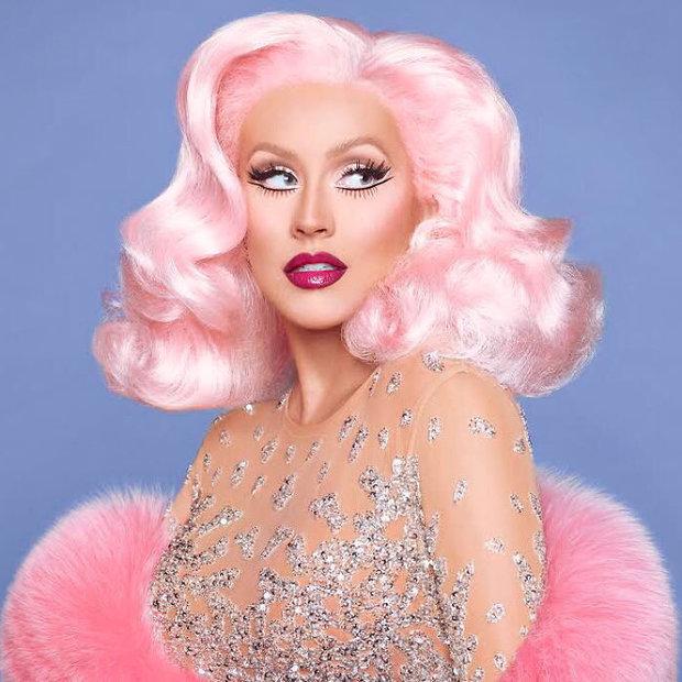 Christina Aguilera s make-upem Foto: