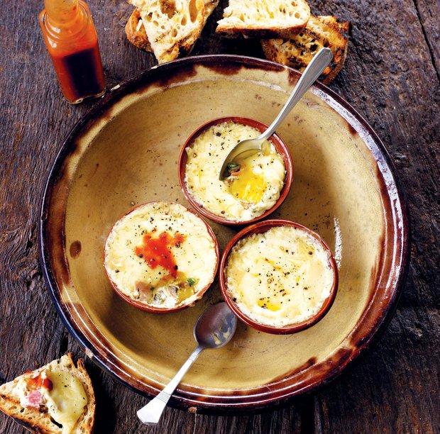 Zapečená vejce s chilli  Foto: