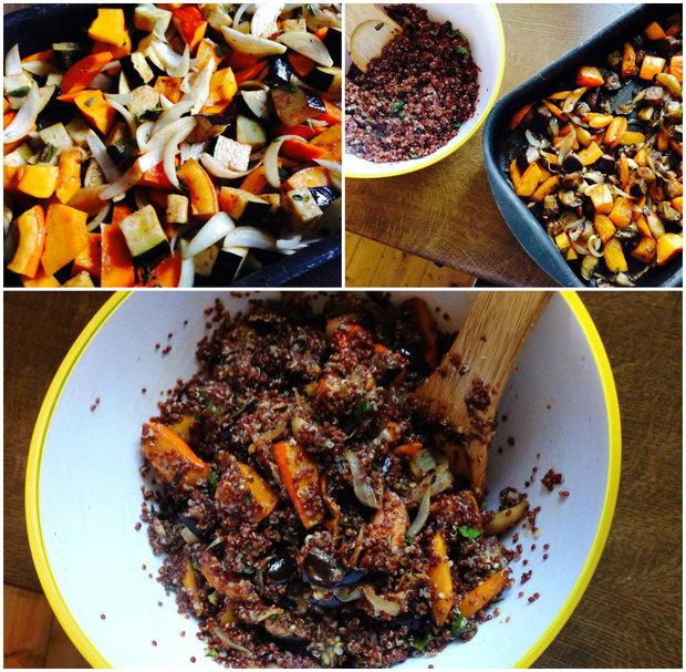 Červená quinoa s pečenou podzimní zeleninou 2 Foto: Klára Michalová