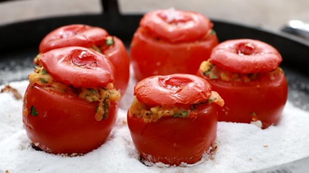 Plněná grilovaná rajčata