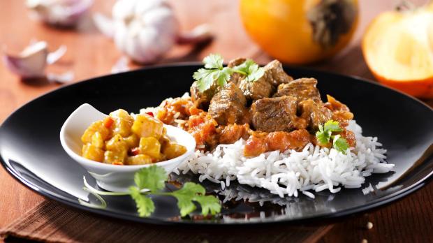 Indická jehněčí masala schutney zkaki
