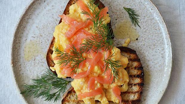 Míchaná vajíčka s lososem