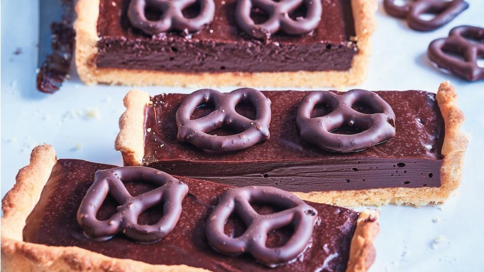 Čokoládový koláč se slanými preclíky