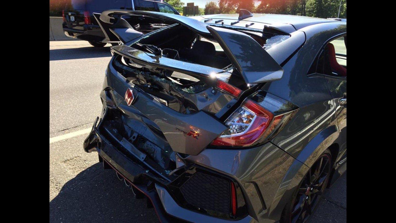 Honda Civic Type-R nehoda