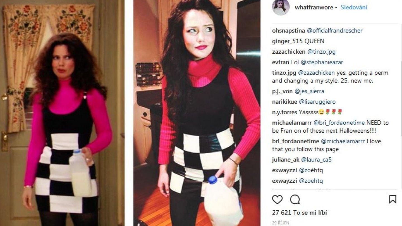 Autorka Instagramu schraňuje i fotky od ostatních fanynek, které nosí outfity Fran