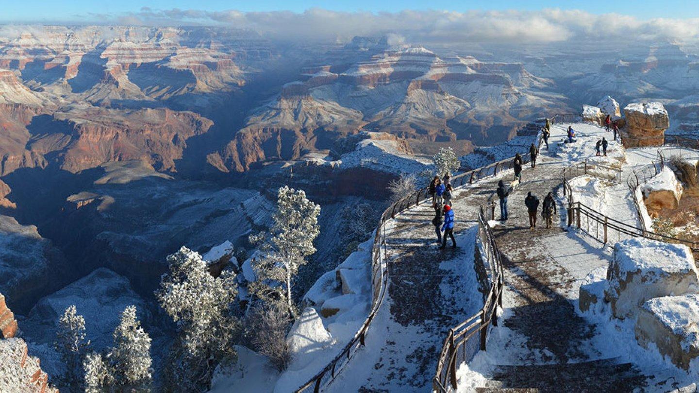 Grand Canyon a jeho nejkrásnější zimní fotografie - Obrázek 32