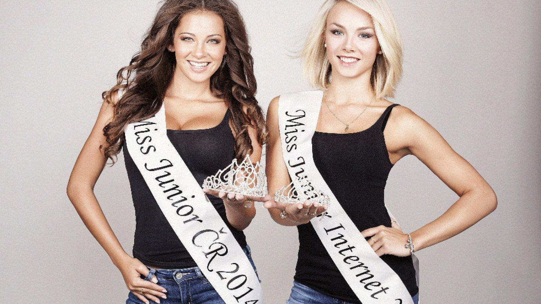 Miss Junior 2014 Andrea Žiačková a Miss Junior 2014 publikum a internet Bára Košková.