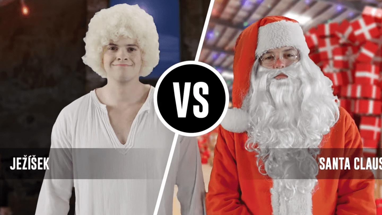 VIDEO: Je lepší Ježíšek, nebo Santa Claus? Jejich parádní rapový souboj vám  dá konečně odpověď   Prima Lajk