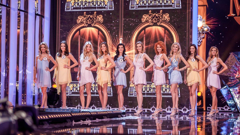 Soutěžící finalistky v Česká Miss 2016.