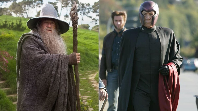 Ian McKellen jako Gandalf v Pánovi prstenů a Magneto v X-Menech