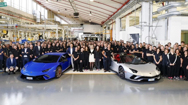 Lamborghini slaví výrobu