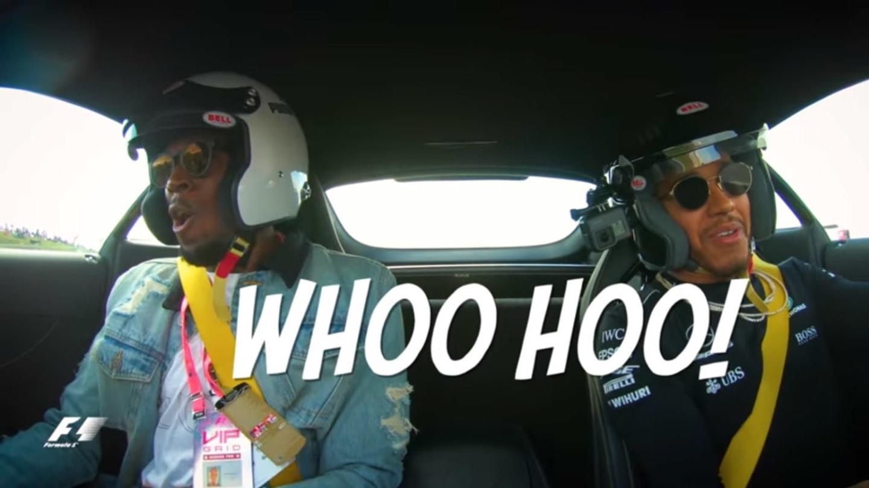 Dva nejrychlejší muži světa a divoký Mercedes. Hamilon potrápil Bolta