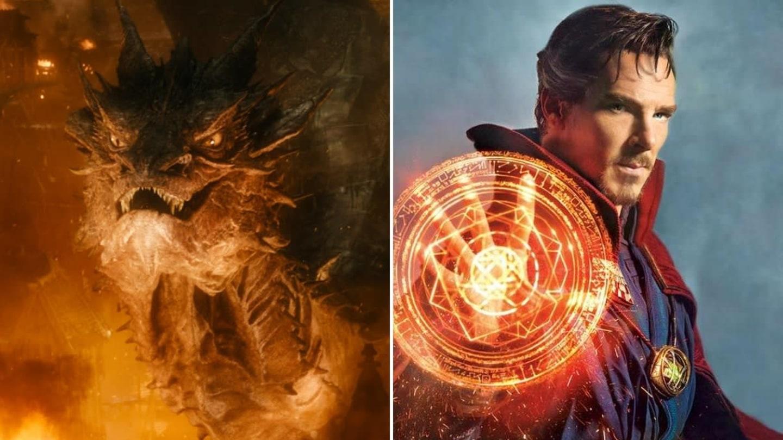 Benedict Cumberbatch jako Šmak v Hobitovi a Doctor Strange v… Doctorovi Strange