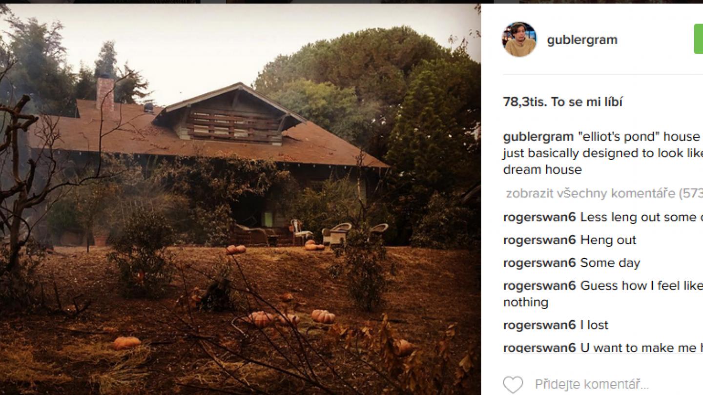 Jeho vysněný dům, který využili na natáčení seriálu