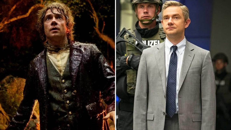 Martin Freeman jako Bilbo v Hobitovi a Everett Ross ve třetím Kapitánu Amerikovi