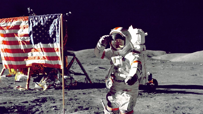 Флаговтык на Луне - это конечно же другое!